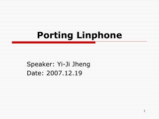 Porting Linphone