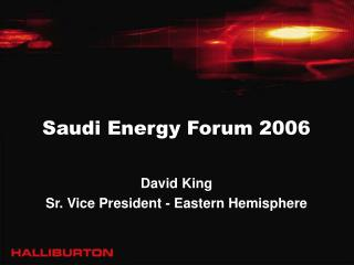 Saudi Energy Forum 2006