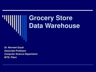 Grocery Store Data Warehouse