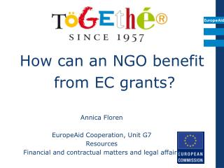 How can an NGO benefit  from EC grants?