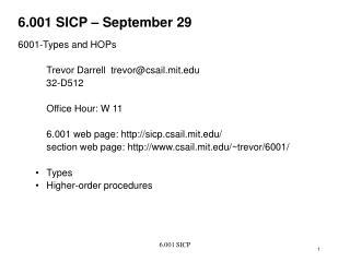 6.001 SICP – September 29