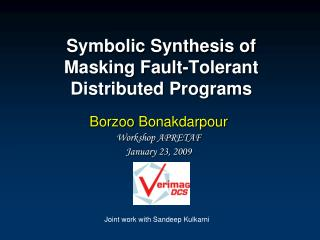 Symbolic Synthesis of Masking Fault-Tolerant Distributed Programs