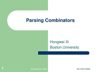 Parsing Combinators