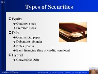 Types of Securities