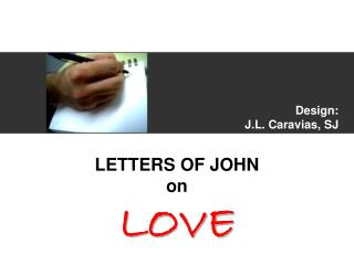 Design: J.L. Caravias, SJ