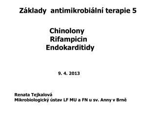 Základy  antimikrobiální terapie 5
