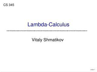 Lambda-Calculus