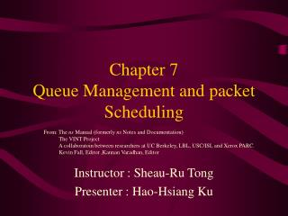 Chapter 7 Queue Management and packet Scheduling
