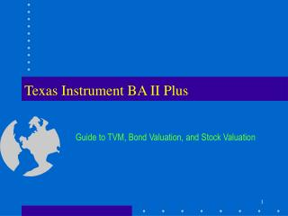 Texas Instrument BA II Plus