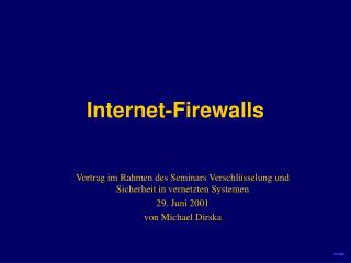 Internet-Firewalls