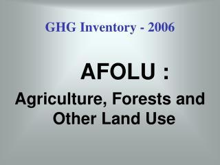 GHG Inventory - 2006
