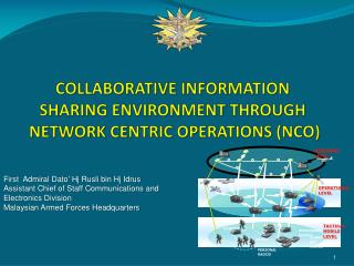 COLLABORATIVE INFORMATION SHARING ENVIRONMENT THROUGH   NETWORK CENTRIC OPERATIONS (NCO)