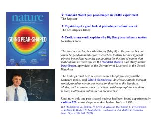Standard Model goes pear-shaped in CERN experiment The Register