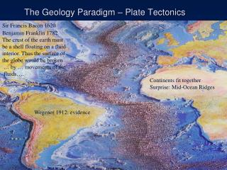 The Geology Paradigm – Plate Tectonics