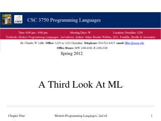 A Third Look At ML