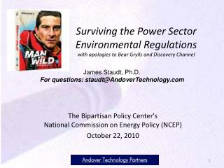 The Bipartisan Policy Center's  National Commission on Energy Policy (NCEP) October 22, 2010