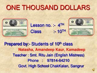 Lesson no. :-  4 TH                       Class          :- 10 TH