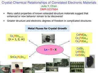Metal Fluxes for Crystal Growth