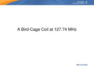 A Bird-Cage Coil at 127.74 MHz