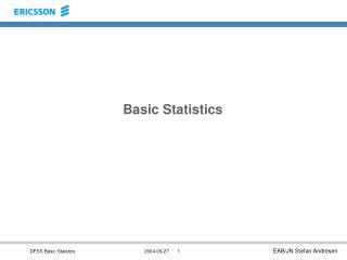 Basic Statistics