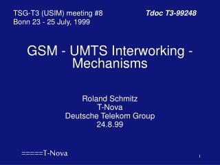 GSM - UMTS Interworking - Mechanisms