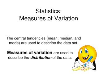 Statistics:  Measures of Variation