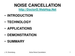 NOISE CANCELLATION DoctorD.WebHop.Net