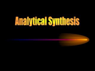 Analytical Synthesis