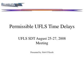 Permissible UFLS Time Delays
