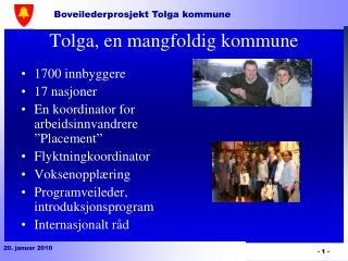 Tolga, en mangfoldig kommune