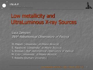 Low metallicity and UltraLuminous X-ray Sources