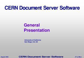 General Presentation