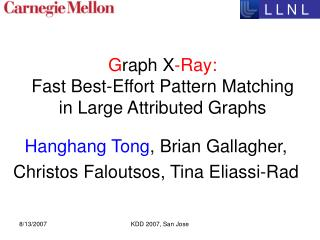 Graph X-Ray:   Fast Best-Effort Pattern Matching  in Large Attributed Graphs