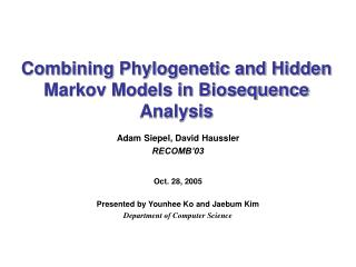 Combining Phylogenetic and Hidden Markov Models in Biosequence Analysis