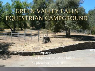 Green Valley Falls Equestrian Campground