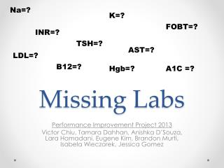Missing Labs