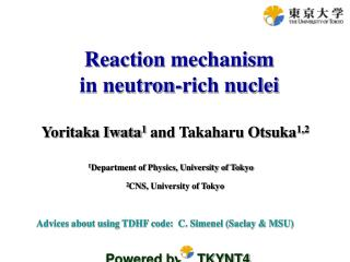 Reaction mechanism                     in neutron-rich nuclei