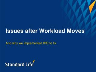 Issues after Workload Moves