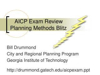 AICP Exam Review Planning Methods Blitz