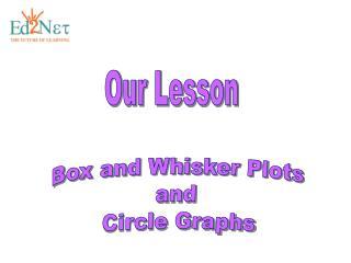 Box and Whisker Plots  and  Circle Graphs