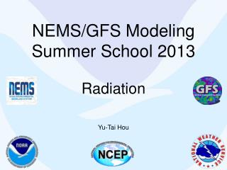 NEMS/GFS Modeling  Summer School 2013 Radiation
