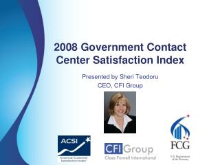2008 Government Contact  Center Satisfaction Index
