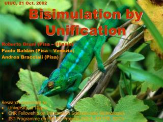 Bisimulation by Unification