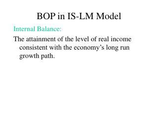 BOP in IS-LM Model