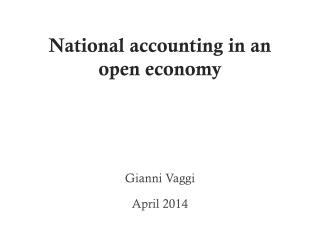 National accounting in an open economy