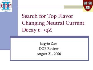 Search for Top Flavor Changing Neutral Current Decay t → qZ
