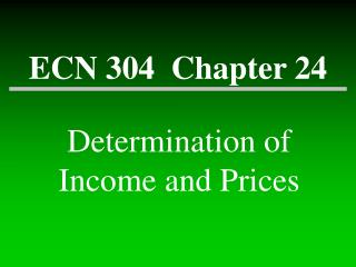 ECN 304  Chapter 24