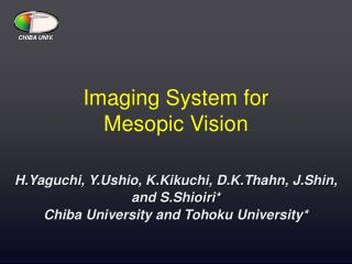 Imaging System for  Mesopic Vision