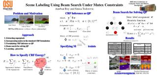Scene Labeling Using Beam Search Under Mutex Constraints  Anirban Roy and Sinisa Todorovic