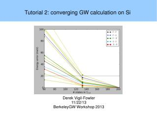 Tutorial 2: converging GW calculation on Si